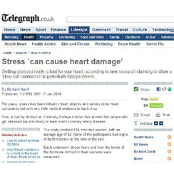 Telegraph: Stress and Heart Damage